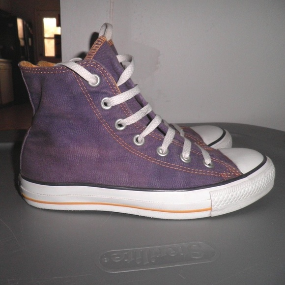 3f4a135abc2640 Converse Other - Converse Laker Purple with Yellow Stitching